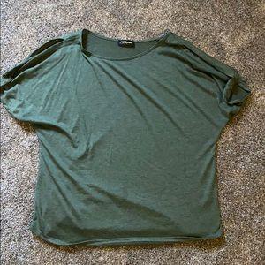 Green open arm shirt